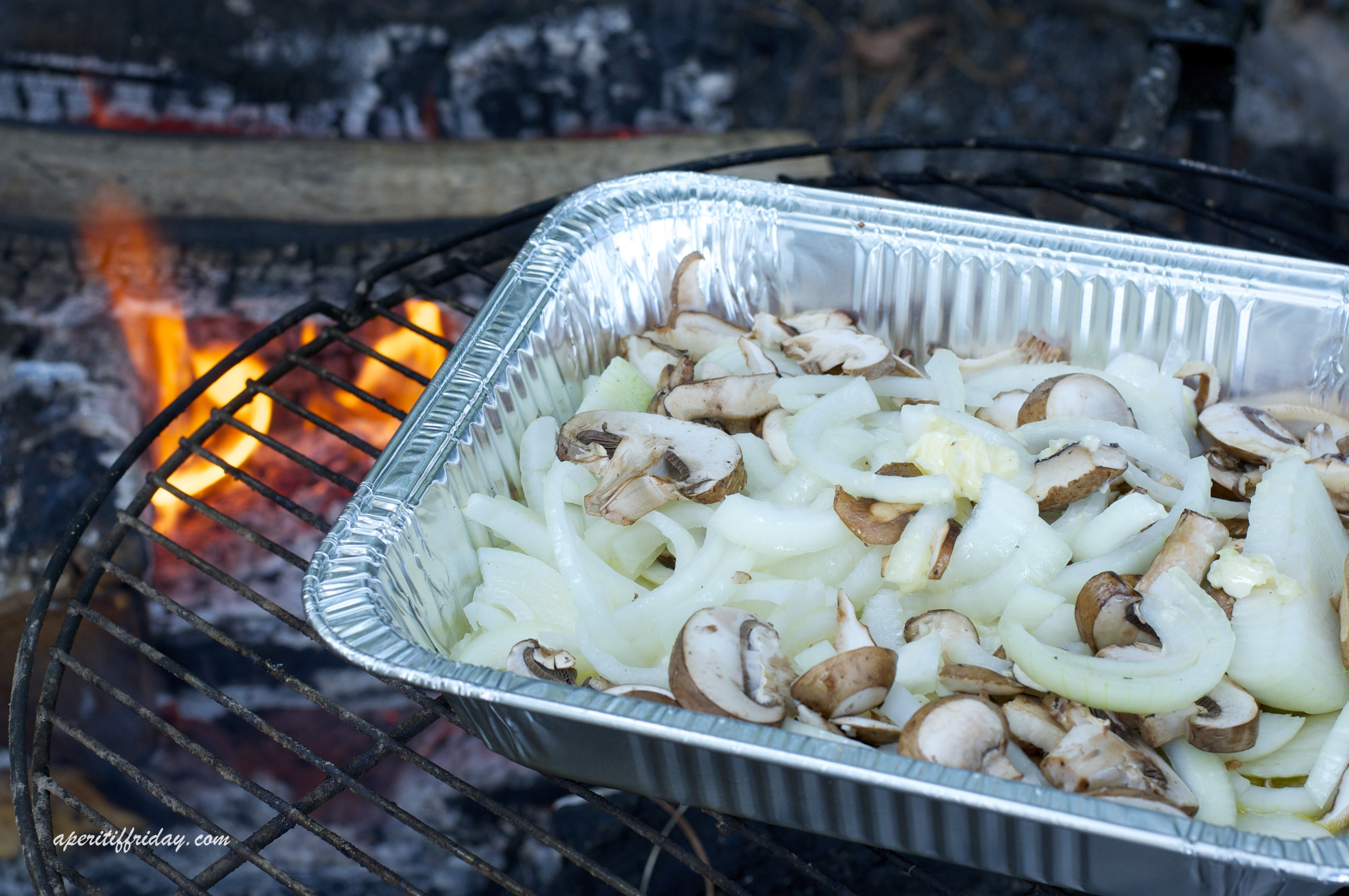 Campfire Cooking: Chicken Flatbread with Caramelized Onions and ...
